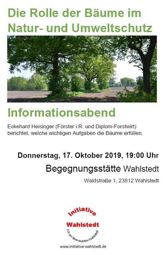 Veranstaltung: Die Rolle der Bäume im Natur- und Umweltschutz